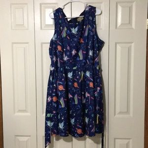 Lindy Bop Unicorn Space Dress US 22